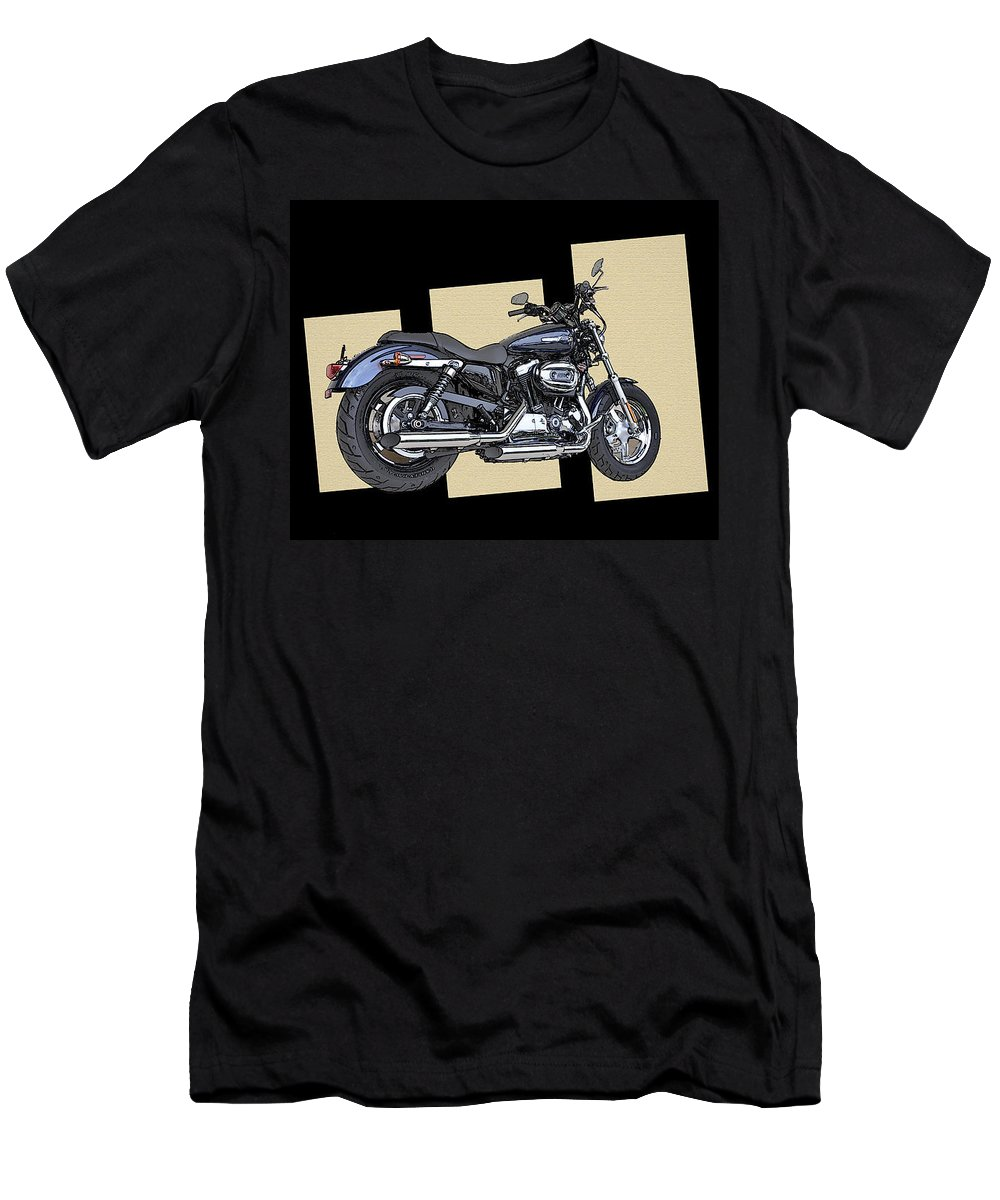 Iconic Harley Davidson Men's T-Shirt (Athletic Fit) featuring the photograph Iconic Harley Davidson by Bill Cannon