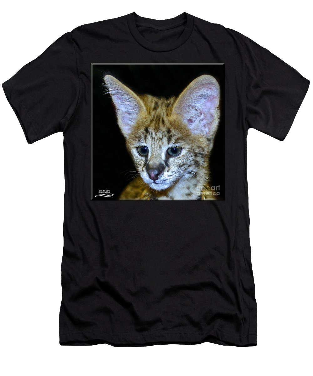 Serval Men's T-Shirt (Athletic Fit) featuring the photograph Im All Ears by Rebecca Morgan