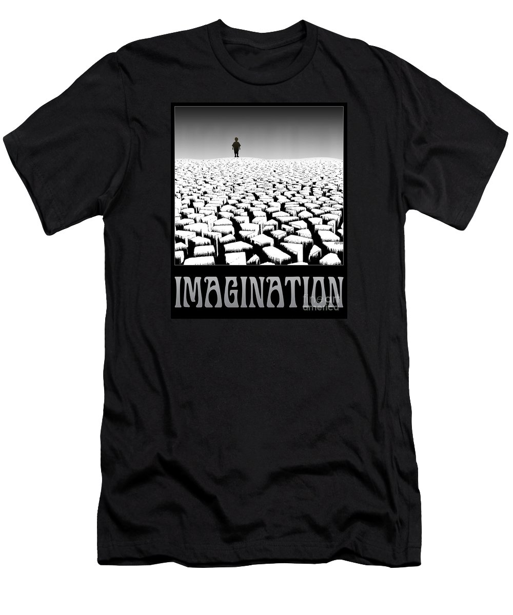 Surreal Men's T-Shirt (Athletic Fit) featuring the digital art Imagination by Phil Perkins