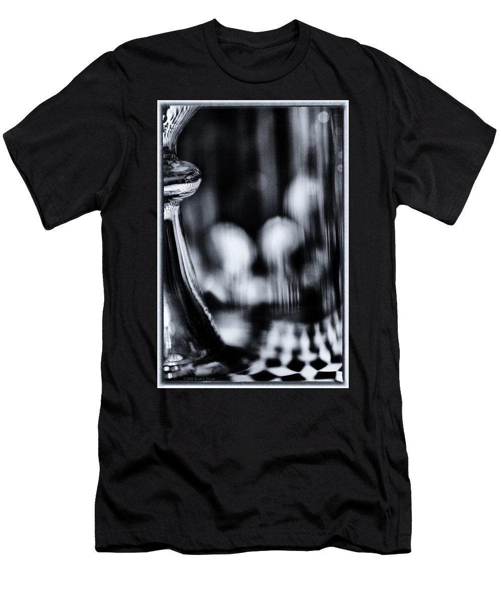 Black And White Men's T-Shirt (Athletic Fit) featuring the photograph Imagine by Scott Wyatt