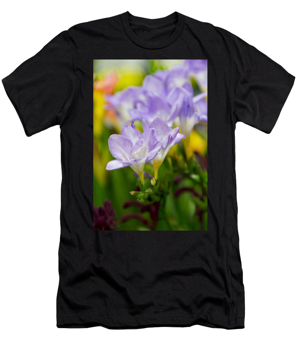 Floral Men's T-Shirt (Athletic Fit) featuring the photograph In Living Color by Angelina Vick