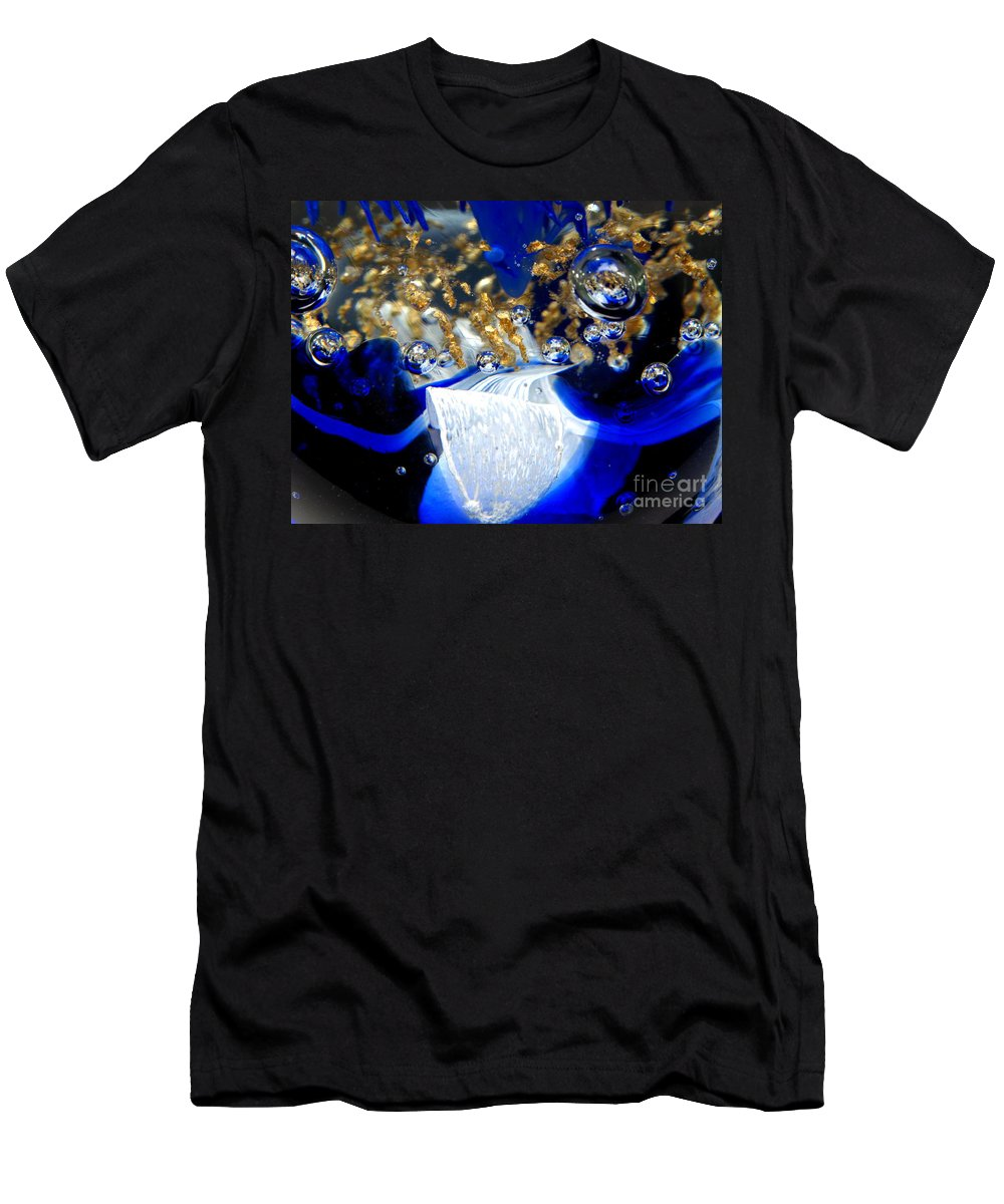 World Men's T-Shirt (Athletic Fit) featuring the photograph Inside The Crystal 1 by John Chatterley
