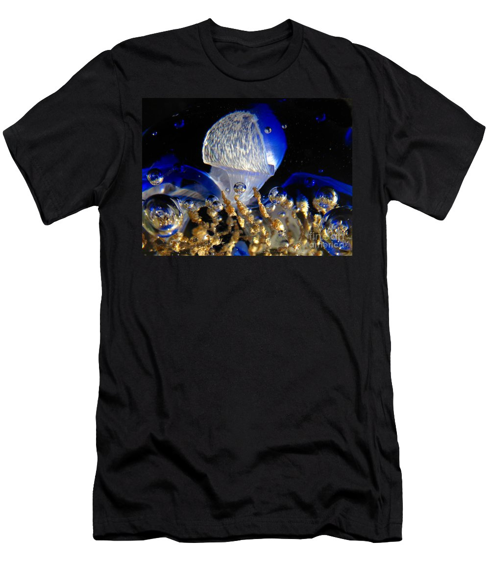 World Men's T-Shirt (Athletic Fit) featuring the photograph Inside The Crystal 2 by John Chatterley
