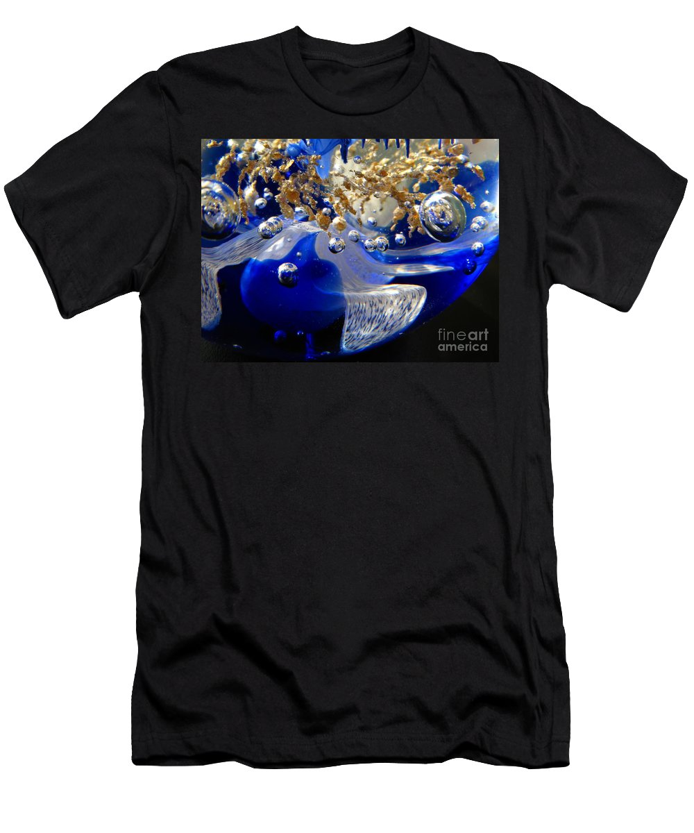 World Men's T-Shirt (Athletic Fit) featuring the photograph Inside The Crystal 3 by John Chatterley