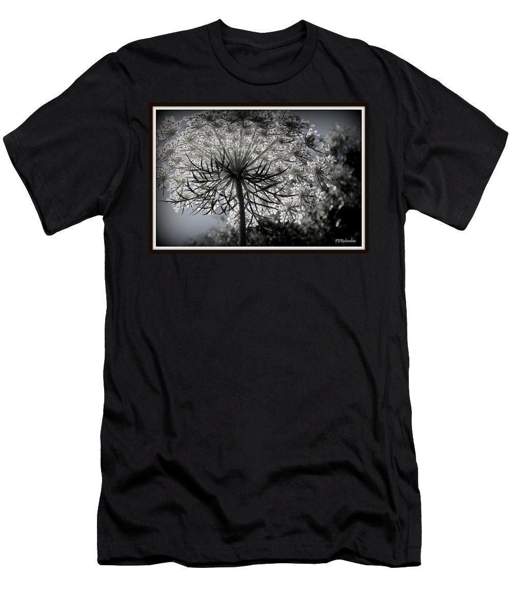 Queen Ann's Lace Men's T-Shirt (Athletic Fit) featuring the photograph Intertwine by Priscilla Richardson