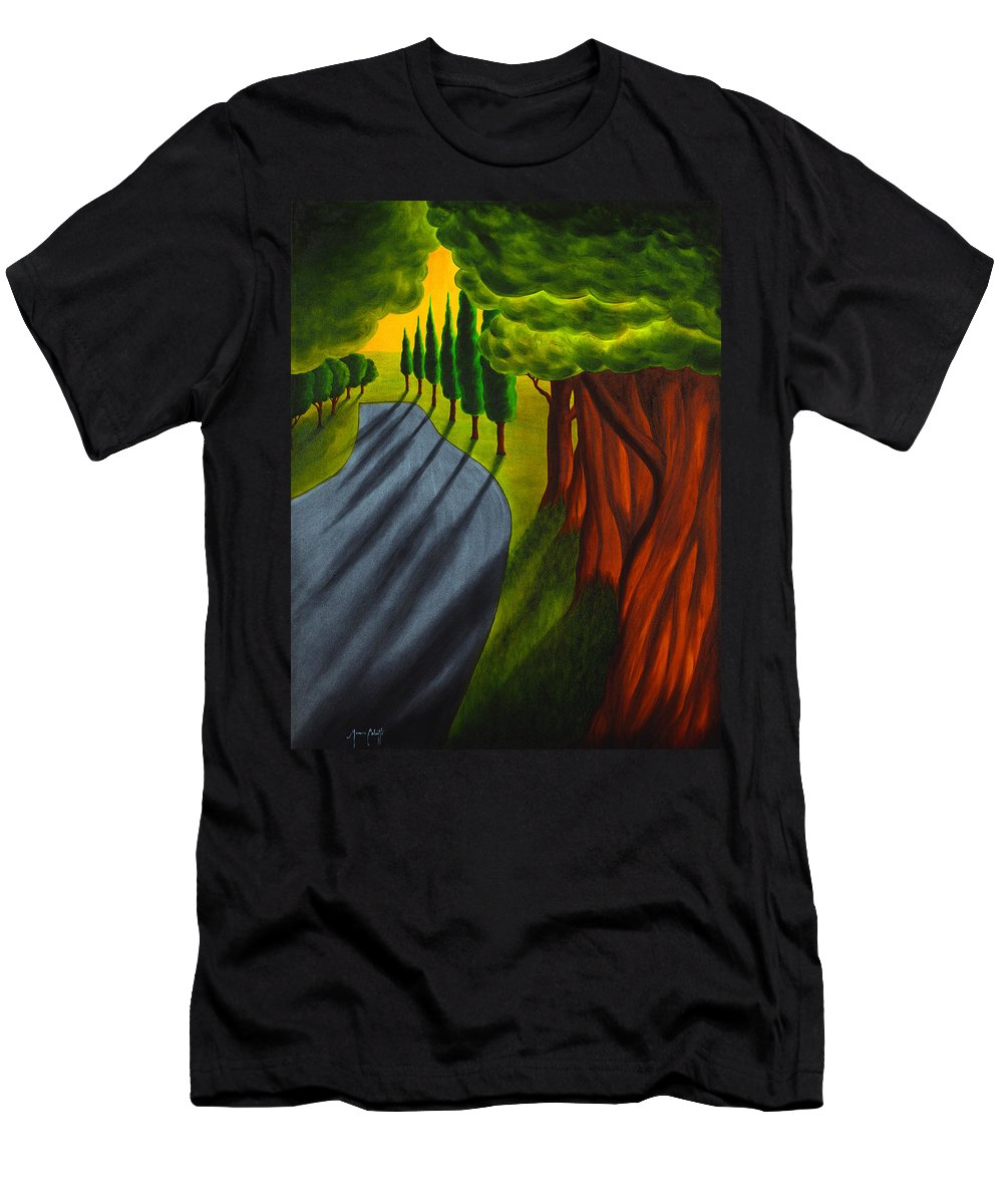 Art Men's T-Shirt (Athletic Fit) featuring the painting Into The Light by Mauro Celotti