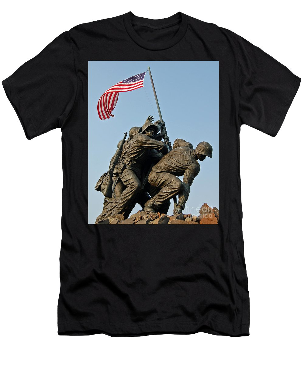 Iwo Men's T-Shirt (Athletic Fit) featuring the photograph Iwo Jima Memoria 2 by Stephen Whalen