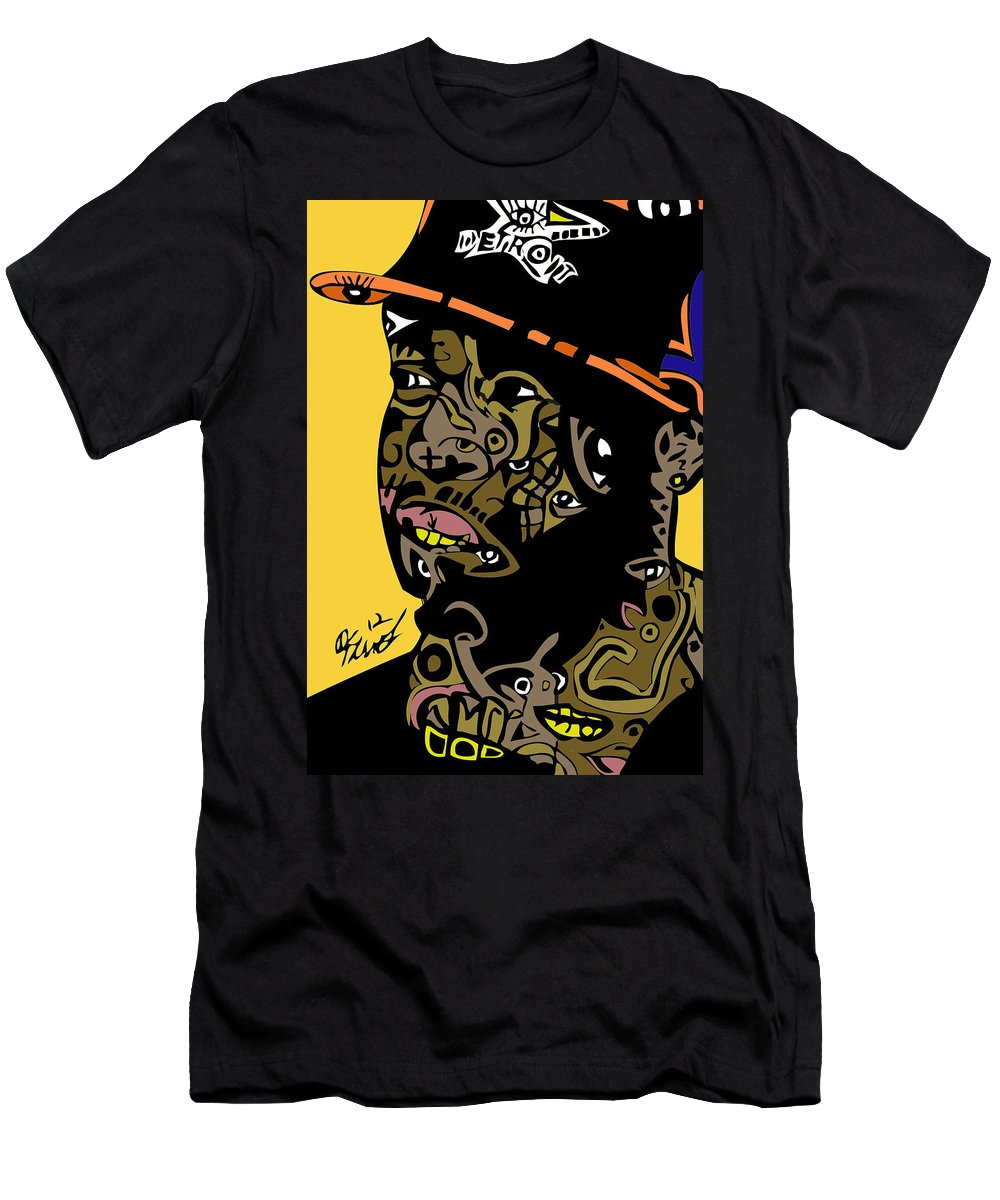 Jdilla Men's T-Shirt (Athletic Fit) featuring the digital art J Dilla Full Color by Kamoni Khem