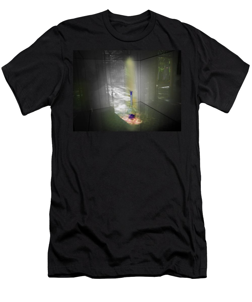 Ghost Men's T-Shirt (Athletic Fit) featuring the digital art Jihn by Charles Stuart