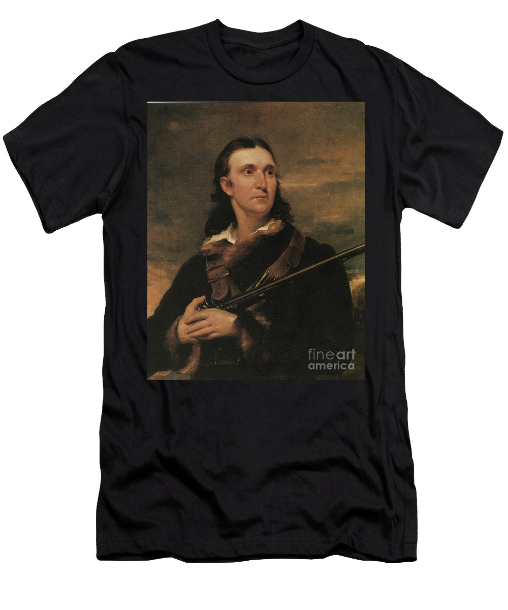 History Men's T-Shirt (Athletic Fit) featuring the photograph John James Audubon, French-american by Photo Researchers