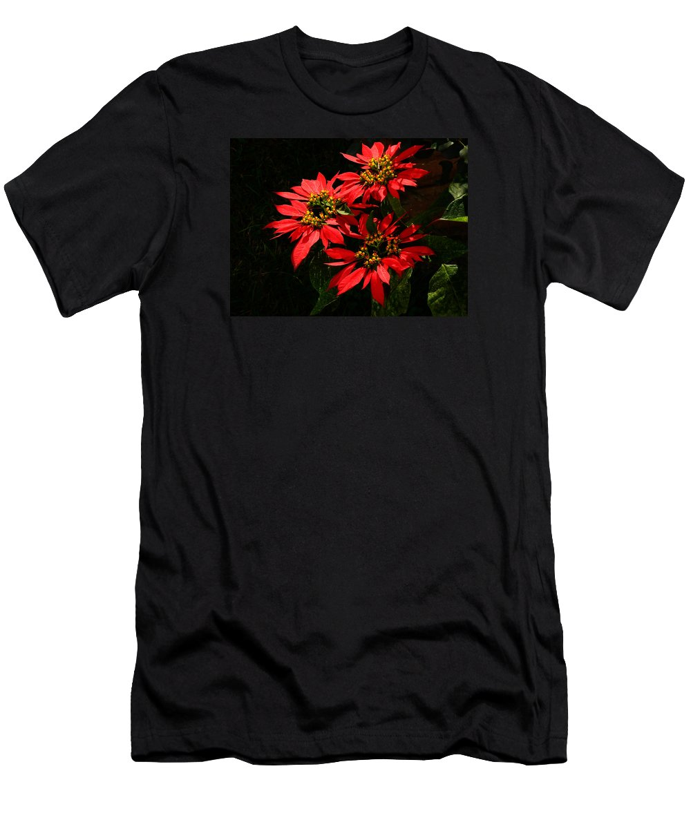 Euphorbia Men's T-Shirt (Athletic Fit) featuring the photograph Joy And Prosperity IIi by Xueling Zou