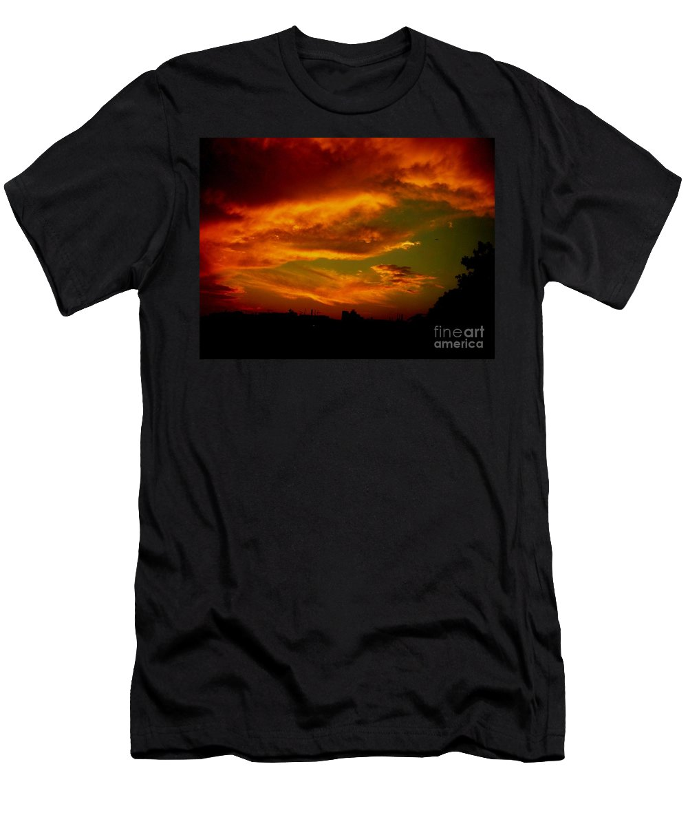 Sunset Men's T-Shirt (Athletic Fit) featuring the photograph July 21 2010 by Mark Gilman
