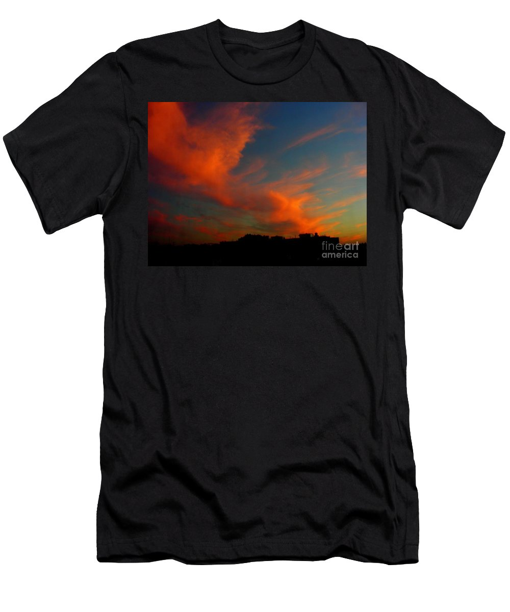 Sunset Men's T-Shirt (Athletic Fit) featuring the photograph June 29 2010 by Mark Gilman