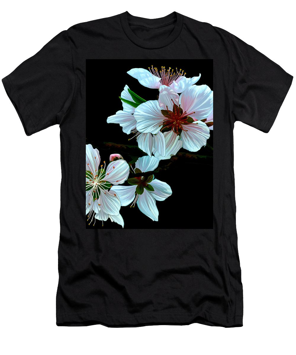 Fine Art T-Shirt featuring the painting Just Peachy by Patricia Griffin Brett