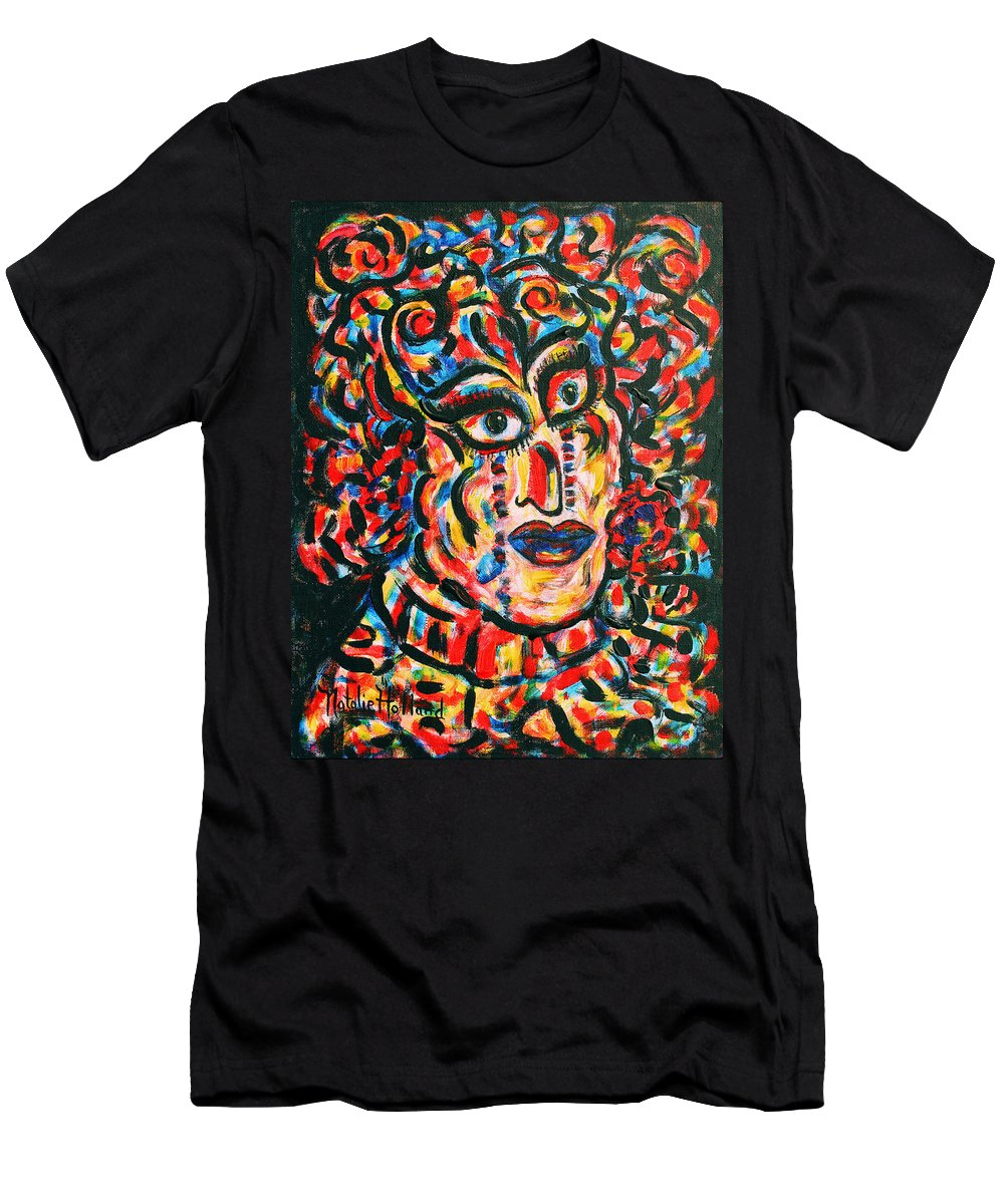 Kabuki Men's T-Shirt (Athletic Fit) featuring the painting Kabuki by Natalie Holland
