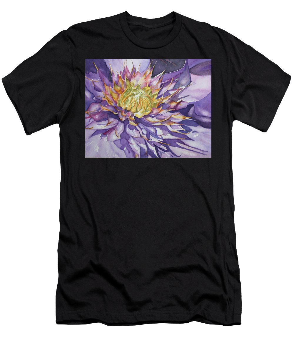 Watercolor Men's T-Shirt (Athletic Fit) featuring the painting Kaleidoscope by Christiane Kingsley