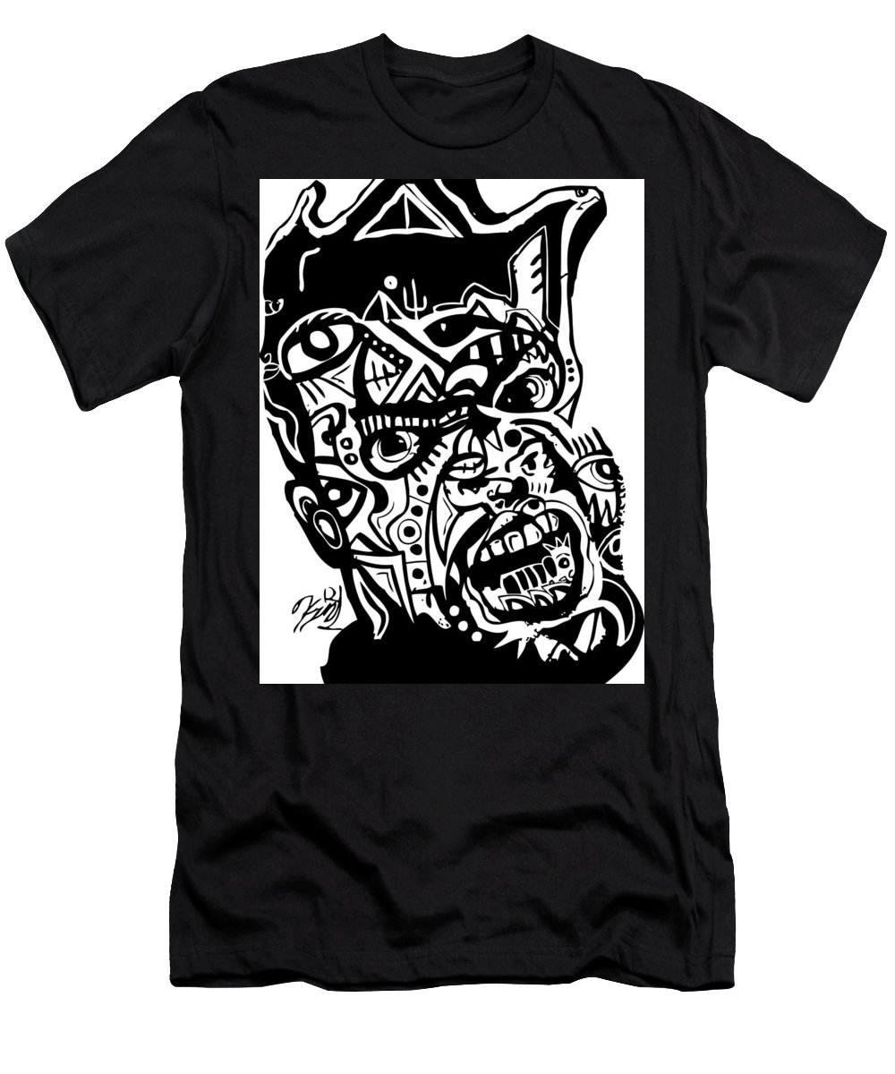 Blackartist Men's T-Shirt (Athletic Fit) featuring the digital art Kamoni-khem by Kamoni Khem