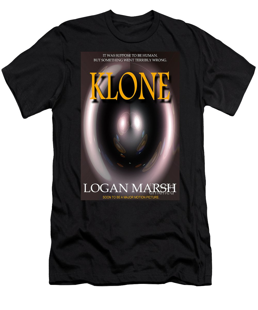 A Mock Book Cover Men's T-Shirt (Athletic Fit) featuring the photograph Klone Book Cover by Mike Nellums