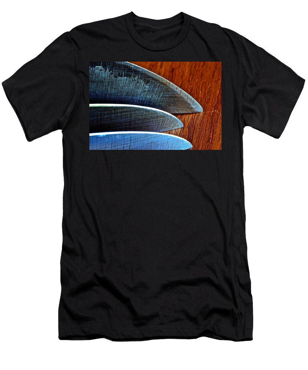 Knife Men's T-Shirt (Athletic Fit) featuring the photograph Knives by Bill Owen