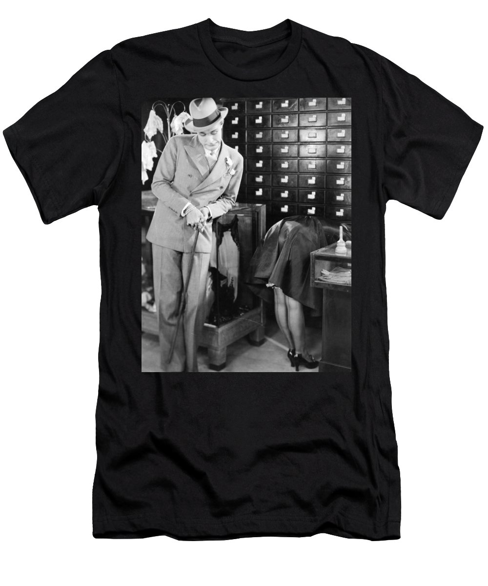 -stores- Men's T-Shirt (Athletic Fit) featuring the photograph Ladies Must Dress, 1927 by Granger