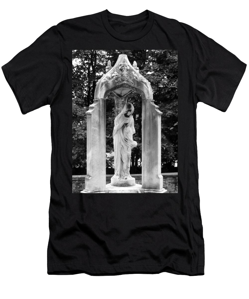 Black And White Men's T-Shirt (Athletic Fit) featuring the photograph Lady Of 1886 by Michele Nelson