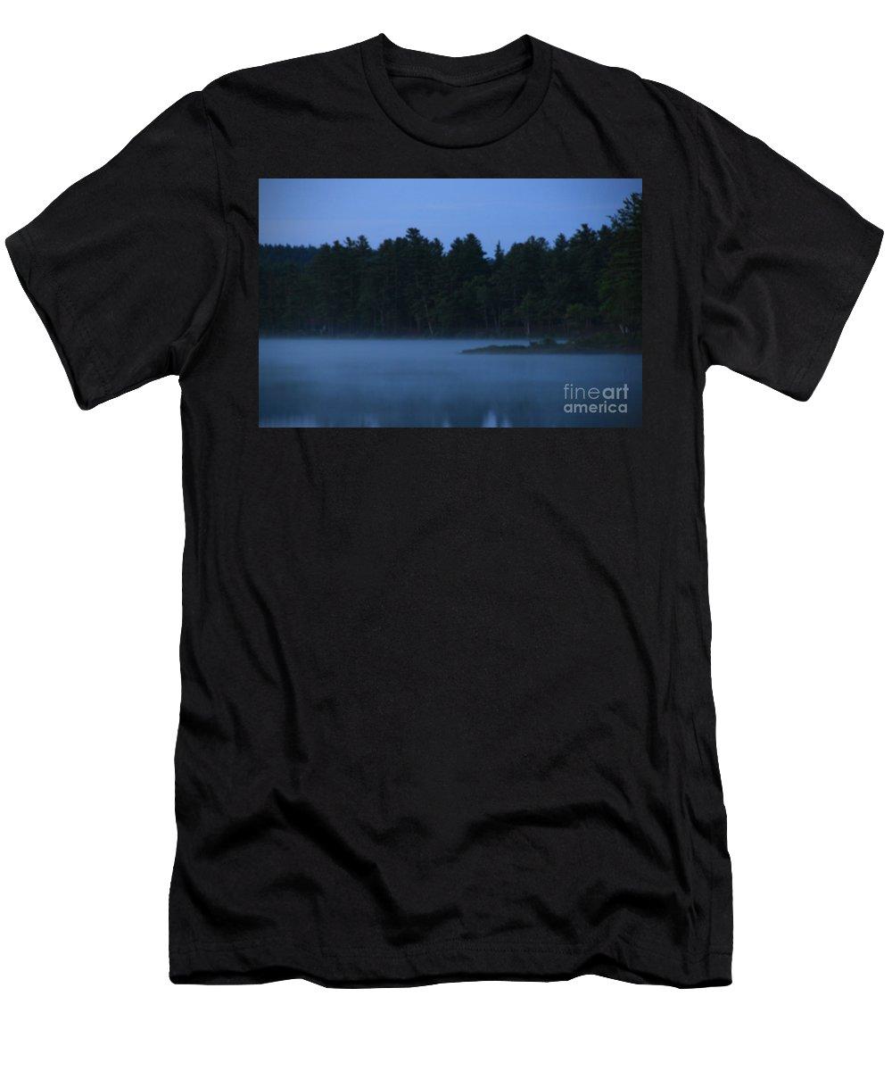 Lake Dennison Sunrise Men's T-Shirt (Athletic Fit) featuring the photograph Lake Dennison Sunrise 1 by Michael Mooney
