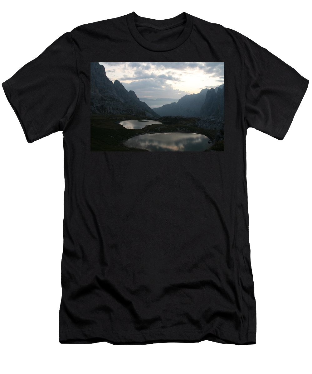 Lake Men's T-Shirt (Athletic Fit) featuring the photograph Lakes In Dolomiti by Francesco Scali