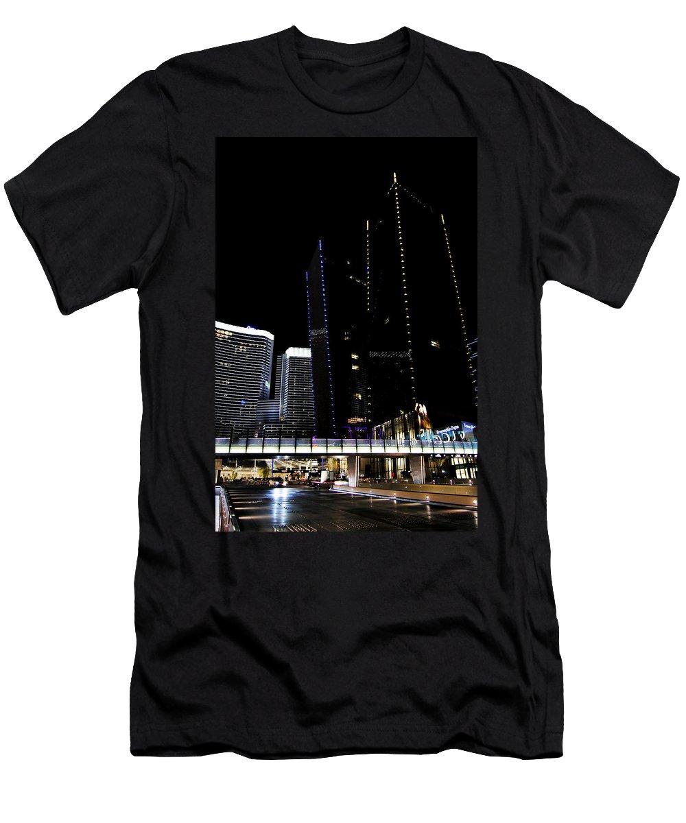 Las Vegas Men's T-Shirt (Athletic Fit) featuring the photograph Las Vegas Walkway by Christofer Johnson