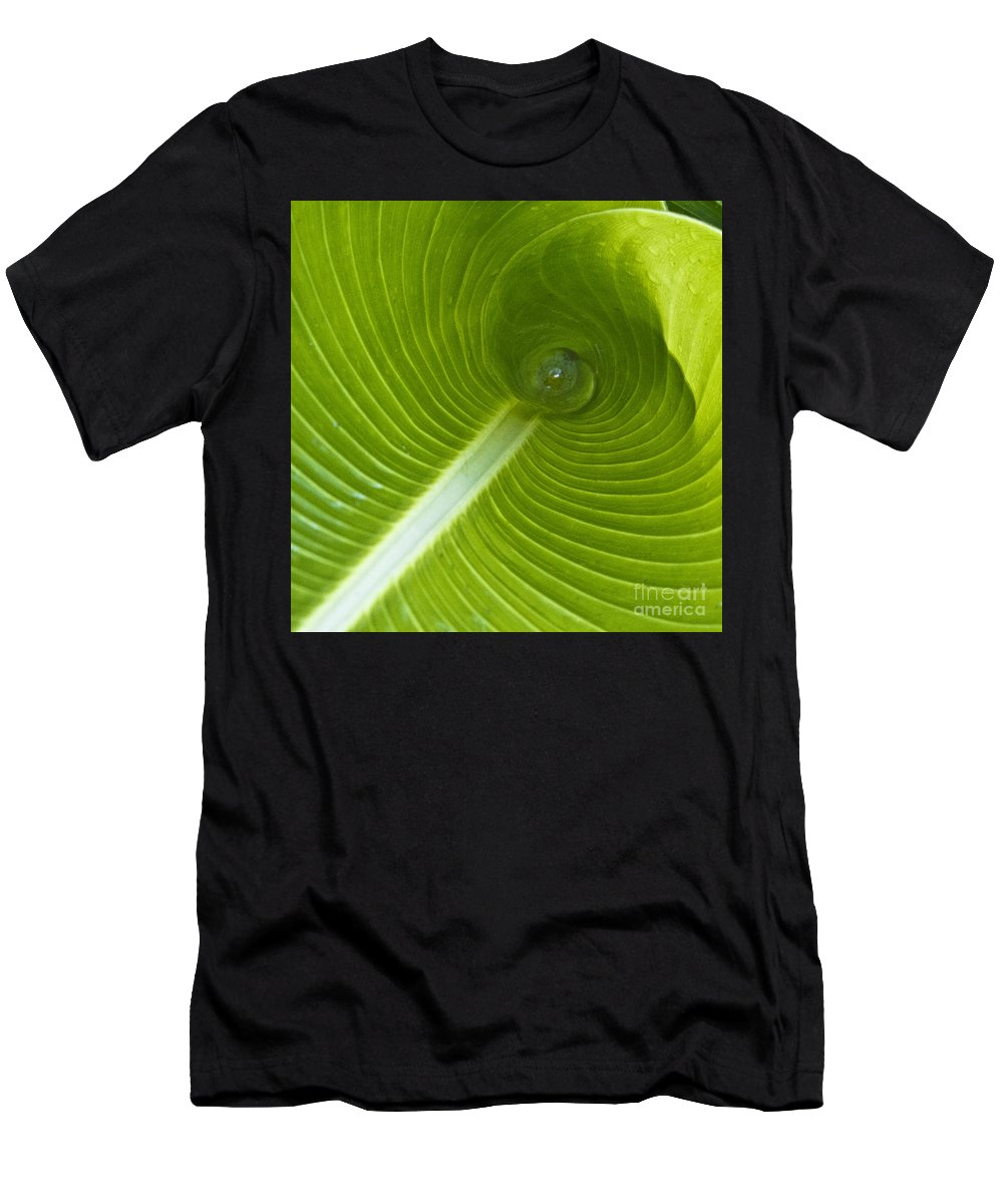 Heiko Men's T-Shirt (Athletic Fit) featuring the photograph Leaf Tube by Heiko Koehrer-Wagner