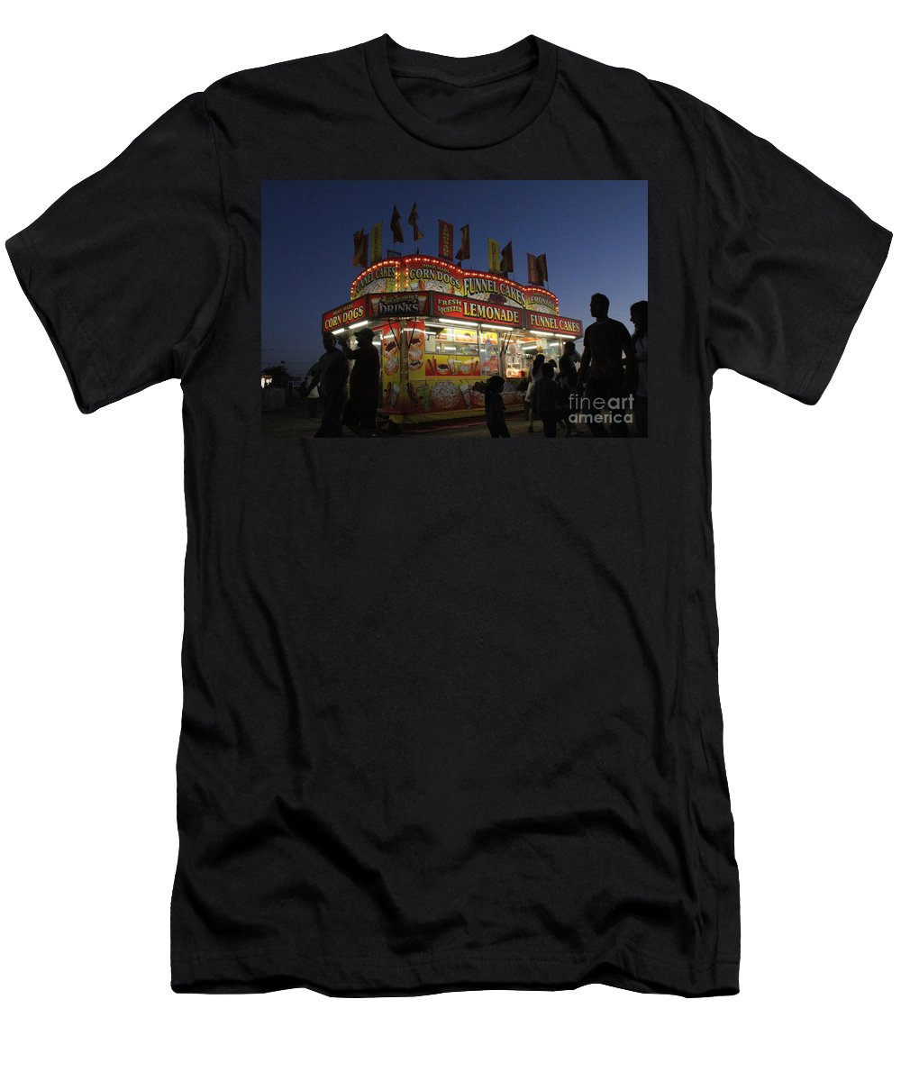 Carnival Men's T-Shirt (Athletic Fit) featuring the photograph Lemonade Dusk by Alycia Christine