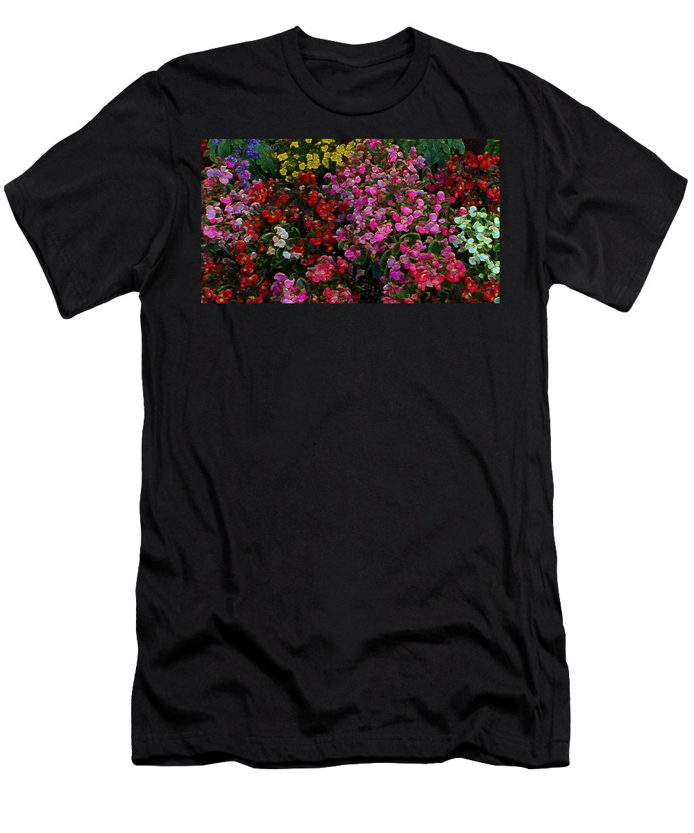 Men's T-Shirt (Athletic Fit) featuring the mixed media les fleurs II by Terence Morrissey