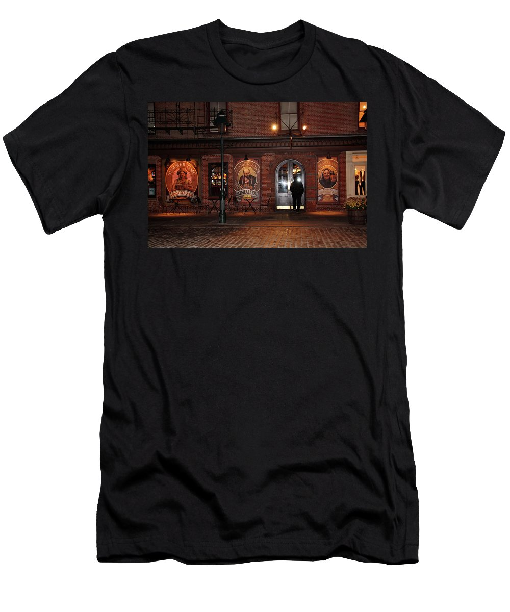 Pub Men's T-Shirt (Athletic Fit) featuring the photograph Let Me In by Terry Wallace