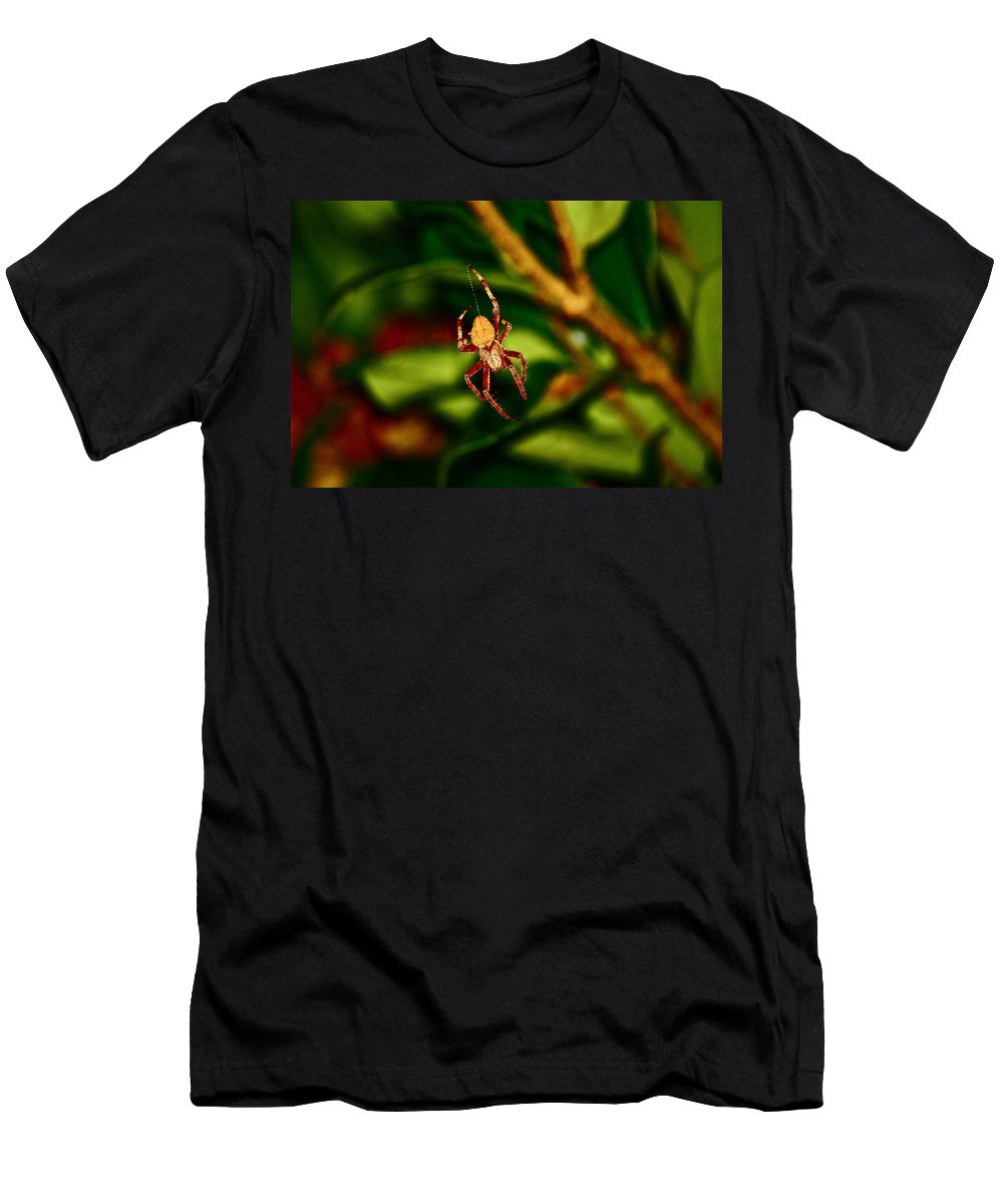 Insects Men's T-Shirt (Athletic Fit) featuring the photograph Let The Work Begin by Diana Hatcher