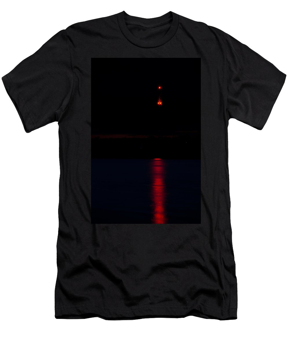 Lights Men's T-Shirt (Athletic Fit) featuring the photograph Lights In The Night by Michael Goyberg