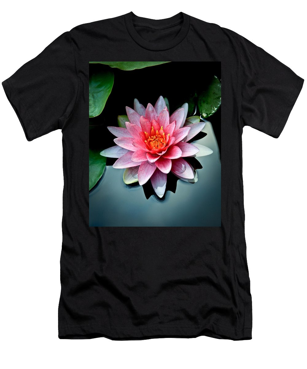 Pond Lily Men's T-Shirt (Athletic Fit) featuring the photograph Lily Of The Pond by Steve McKinzie
