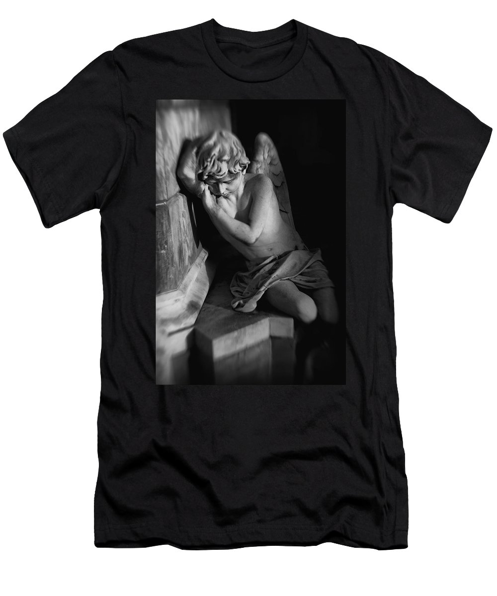 Angel Men's T-Shirt (Athletic Fit) featuring the digital art Little Angel by Diane Dugas