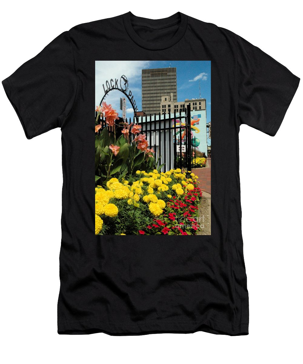 Lock 3 Men's T-Shirt (Athletic Fit) featuring the photograph Lock 3  by Trish Hale