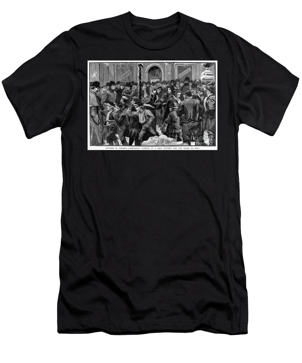 1886 Men's T-Shirt (Athletic Fit) featuring the photograph London: Soup Kitchen by Granger