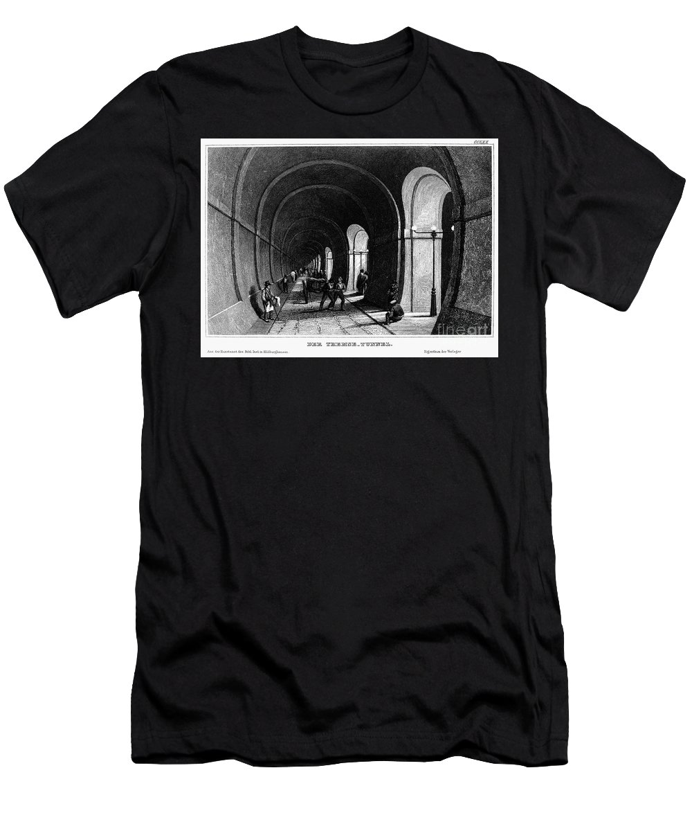 1840 Men's T-Shirt (Athletic Fit) featuring the photograph London: Thames Tunnel by Granger