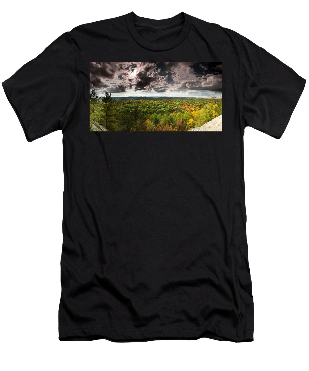 Algonquin Men's T-Shirt (Athletic Fit) featuring the photograph Lookout Trail by Cale Best