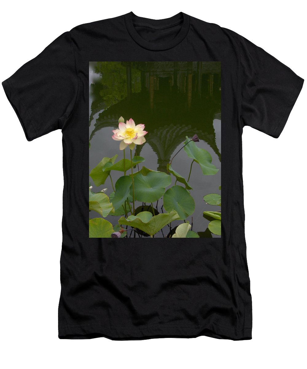 Lotus Men's T-Shirt (Athletic Fit) featuring the photograph Lotus 2 by Catherine Helmick