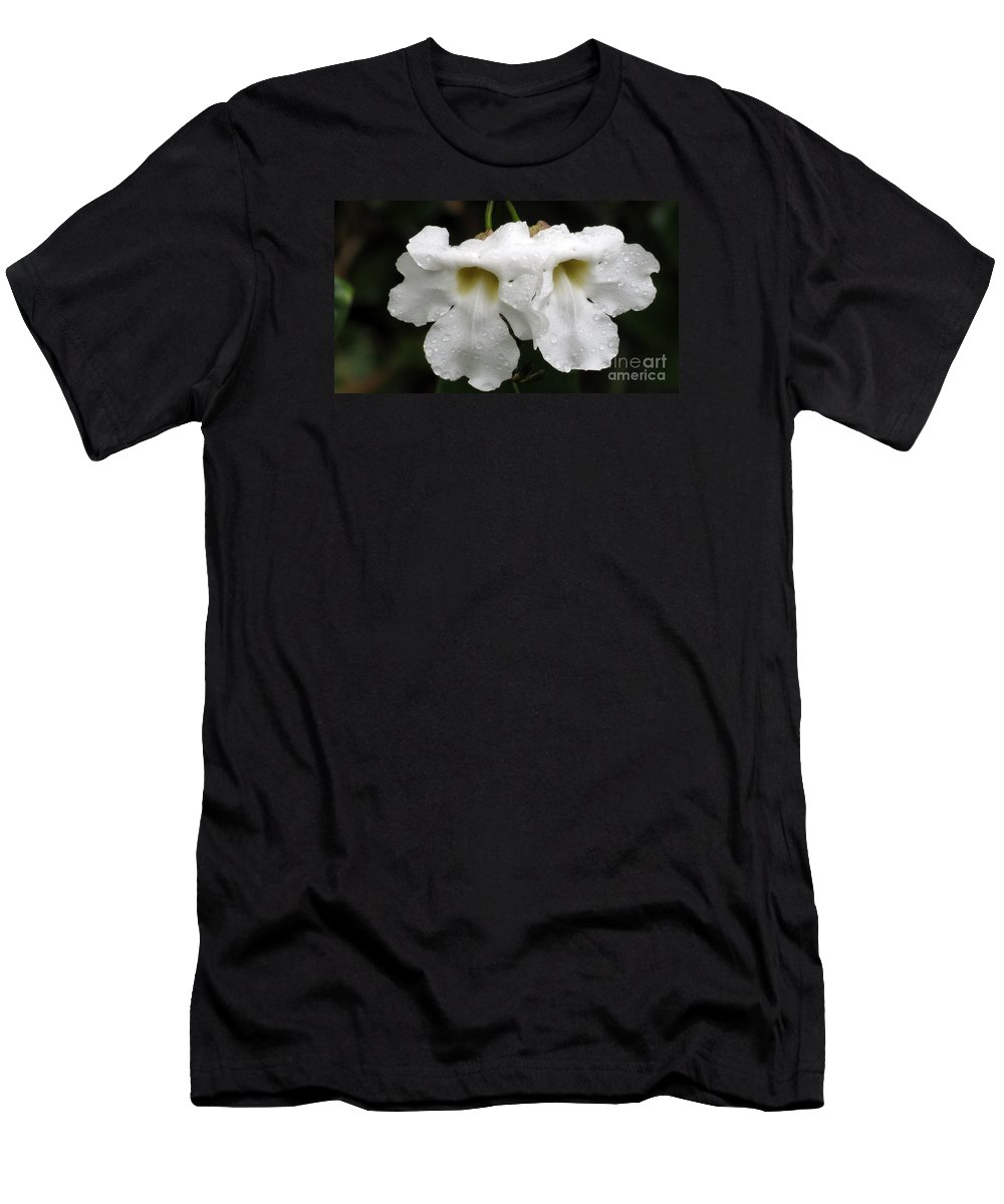White Flower Men's T-Shirt (Athletic Fit) featuring the photograph Love Bells by Elizabeth Harshman