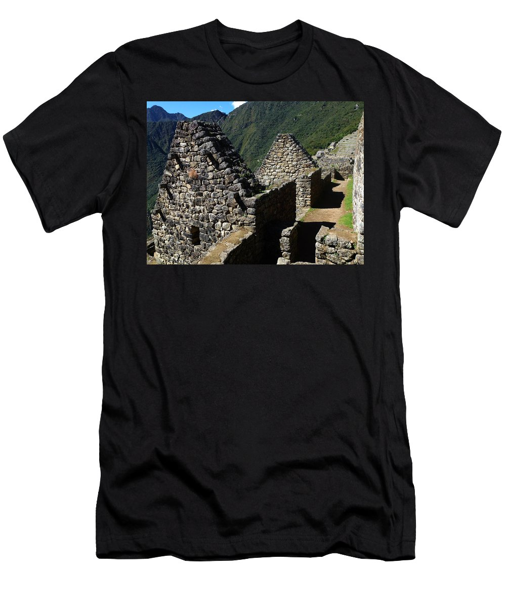 Peru Men's T-Shirt (Athletic Fit) featuring the photograph Machu Picchu Peru 8 by Xueling Zou