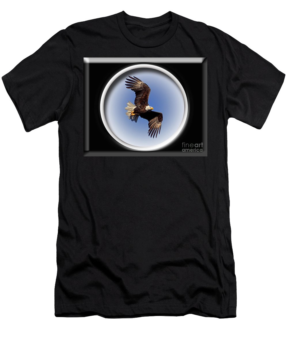 Color Photography Men's T-Shirt (Athletic Fit) featuring the photograph Majestic Flight by Sue Stefanowicz