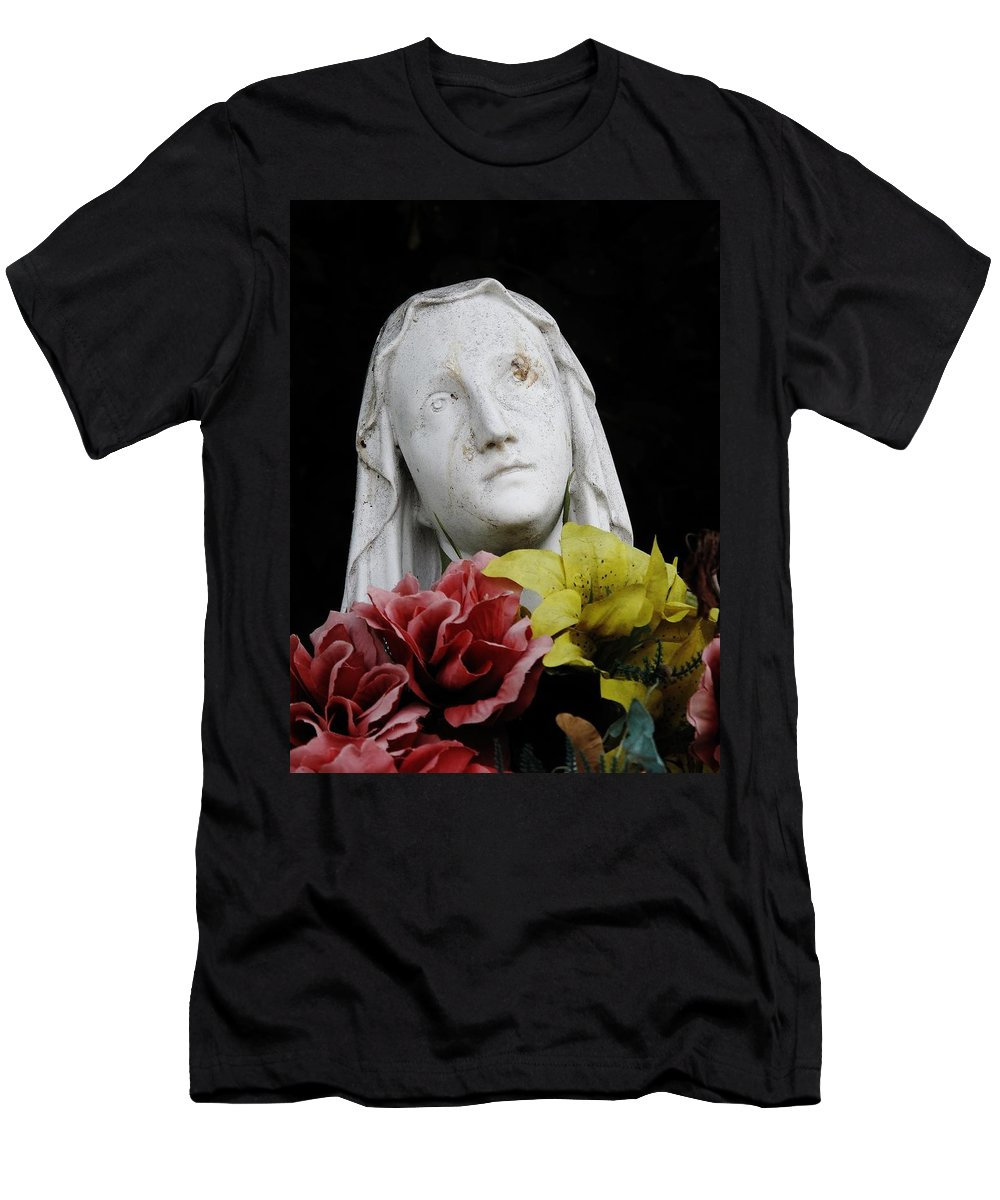 Mary Men's T-Shirt (Athletic Fit) featuring the photograph Mama Mary by Michele Nelson