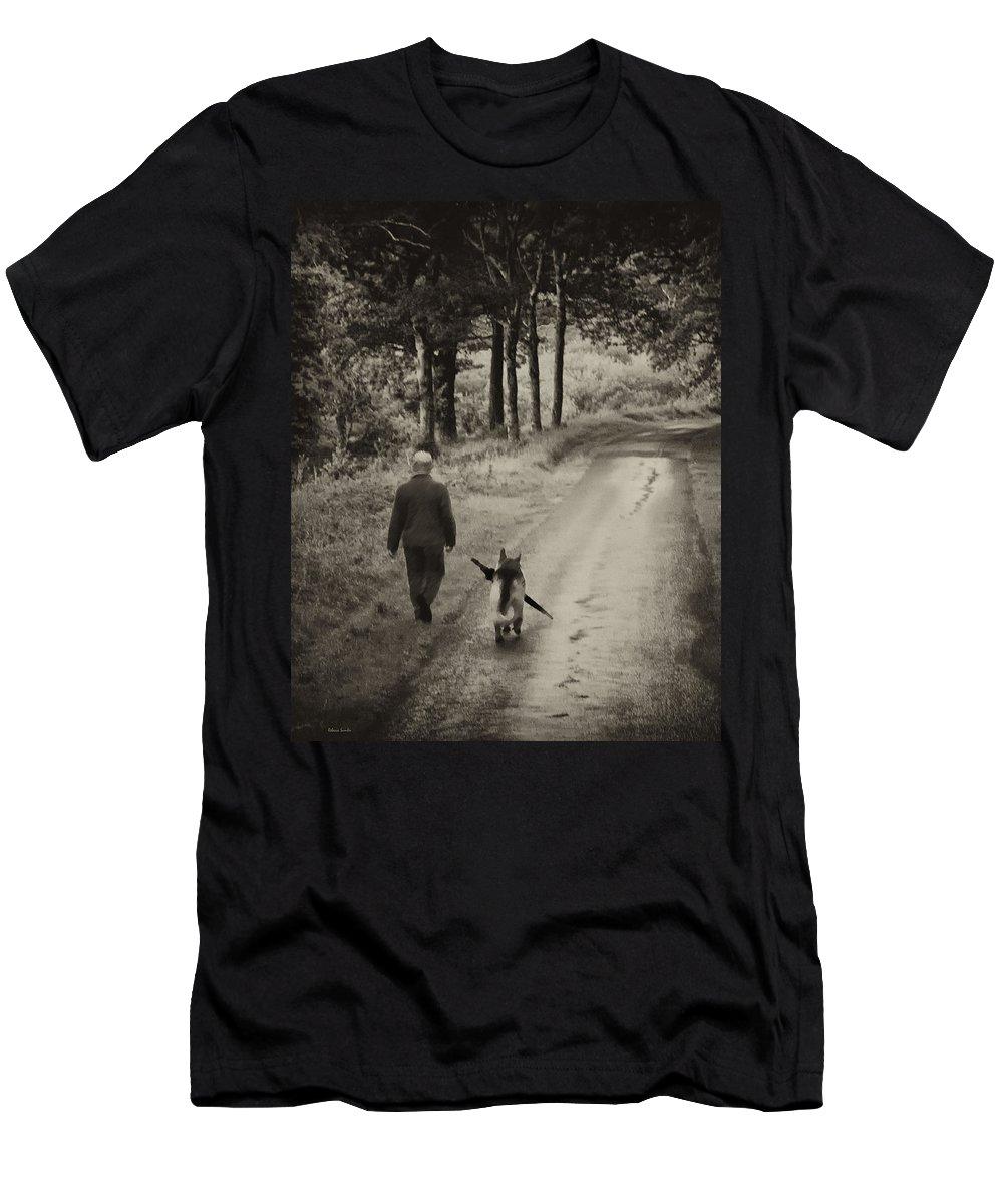 Man's Best Friend Men's T-Shirt (Athletic Fit) featuring the photograph Man's Best Friend by Rebecca Samler