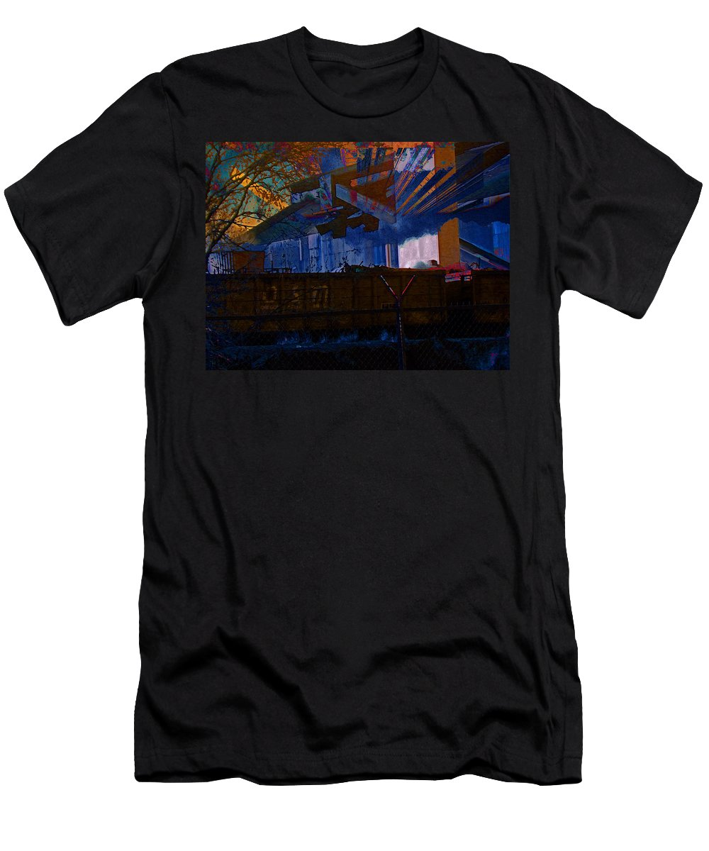 Abstract Men's T-Shirt (Athletic Fit) featuring the photograph Manufacturing Cfi - Glory Days by Lenore Senior