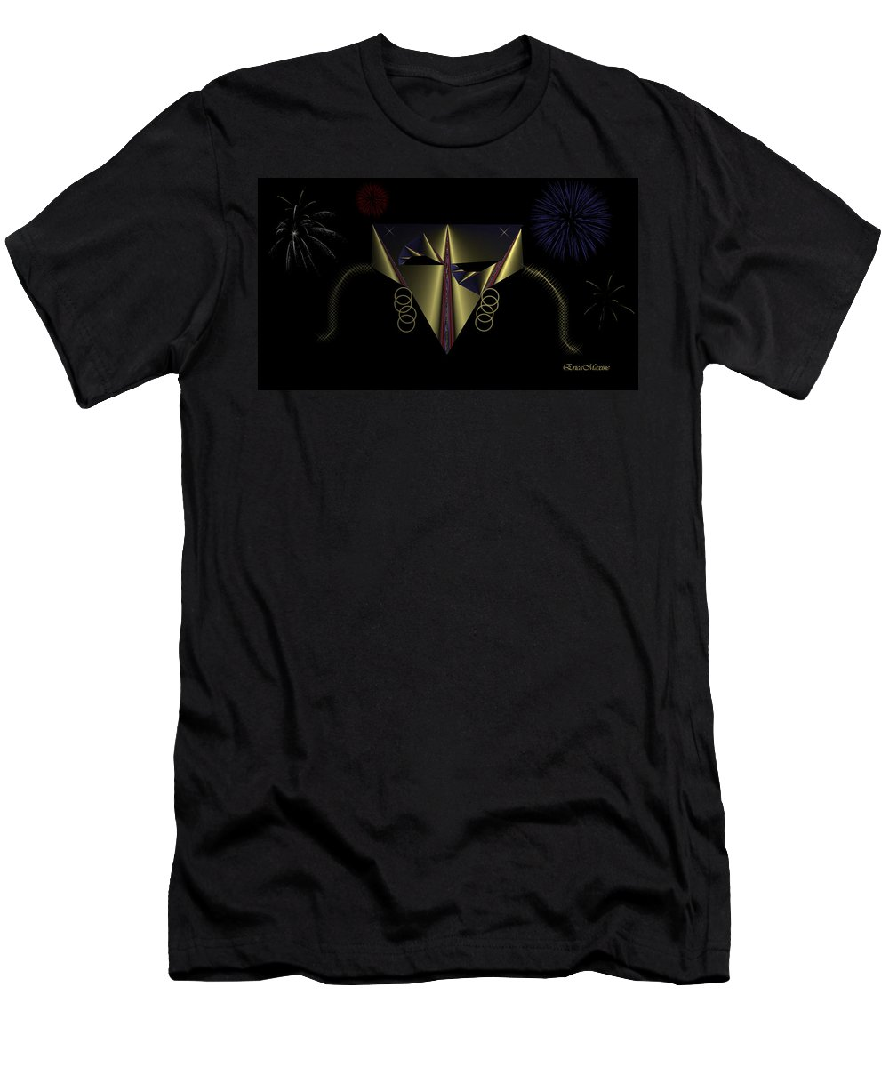 Mask Men's T-Shirt (Athletic Fit) featuring the digital art Mardi Gras Mask 2 by Ericamaxine Price