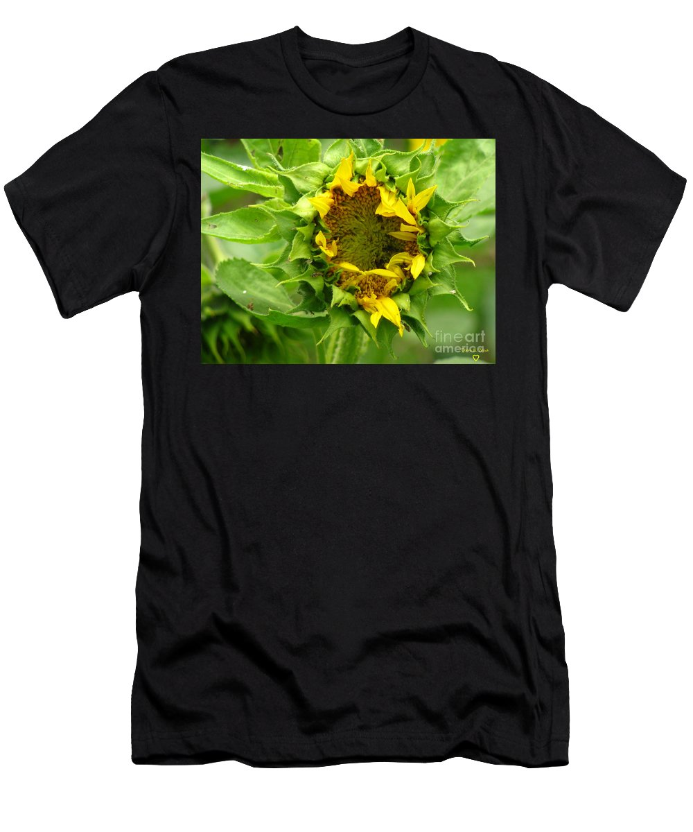 Flower Men's T-Shirt (Athletic Fit) featuring the photograph May I Sleep A Little While Longer by Donna Brown
