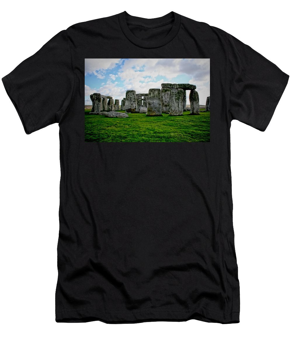 Stonehenge Men's T-Shirt (Athletic Fit) featuring the photograph Megaliths by Heather Applegate